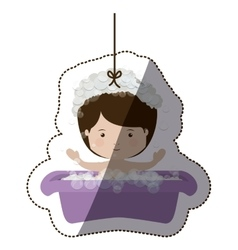 Isolatd baby boy design vector