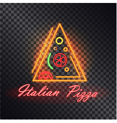 italian pizza flare food icon vector image