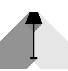 lamp simple sign black icon with two flat vector image
