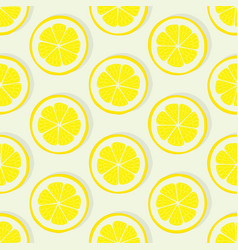 lemon slice seamless pattern vector image