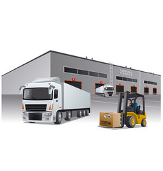 logistics center vector image