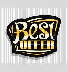 logo for best offer vector image