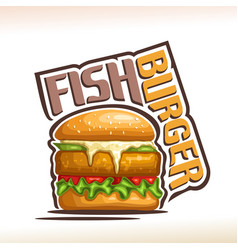 Logo for fish burger vector