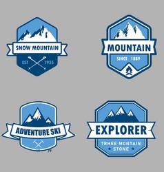 logo snow mountain vector image