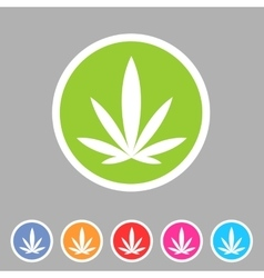 marijuana cannabis icon flat web sign symbol logo vector image