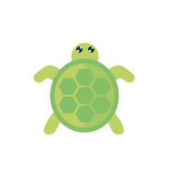 Marine life cute turtle cartoon sea fauna animal vector