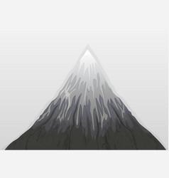 Mountain fuji snow vector