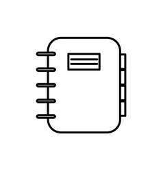 Notebook adventure thin line icon design vector