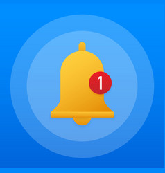 notification bell icon for incoming inbox message vector image