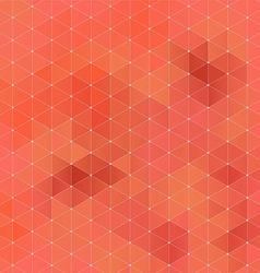Orange abstract geometric rumpled triangular vector image