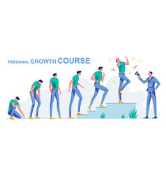 Personal course growth from loser to successful vector
