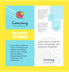 pie chart company brochure title page design vector image