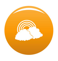 rainbow icon orange vector image