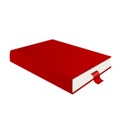 red book and bookmark vector image