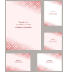 Red gothic pattern page corner template set vector