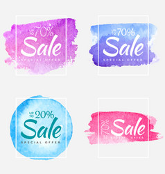 sale final up to 70 off watercolor sign over art vector image
