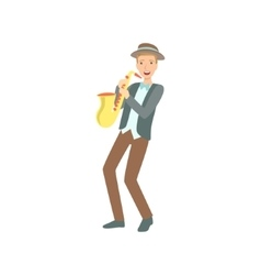 Saxophonist Creative Person vector