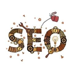 SEO concept retro symbol vector image