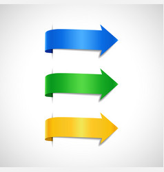 set colored decorative arrows vector image