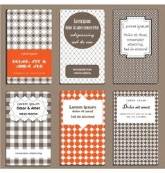Set of cards in geometric style vector image