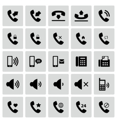 Set telephone icons vector