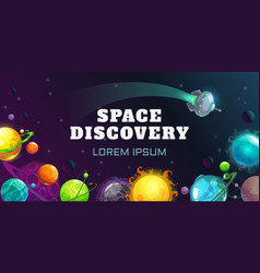 Space discovery concept vector