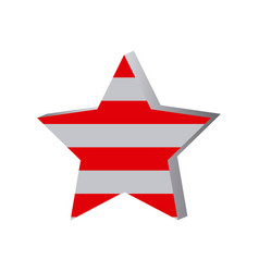 star with stripes independece day icon vector image