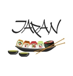 Sushi Japanese Culture Symbol vector image