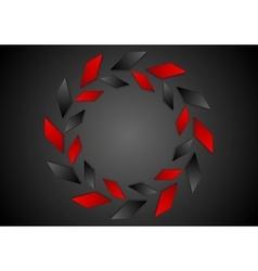 Tech geometric red black logo design vector