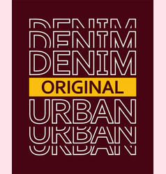 typography denim vector image