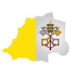 Vatican City Flag vector