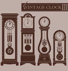 Vintage clock III vector