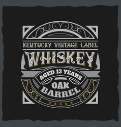 vintage label design with lettering composition vector image
