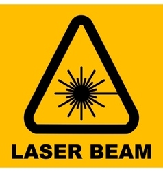 Warning icon of Laser light in yellow triangle vector