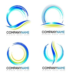 Water Splash Logo design vector