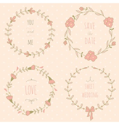 Wreaths set vector