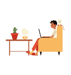 young freelancer in vector image