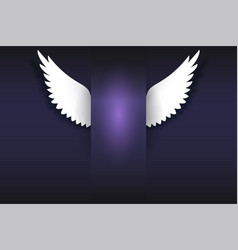 banner with angel wings artificial paper wings vector image