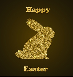 Decorative Easter card with rabbit vector image