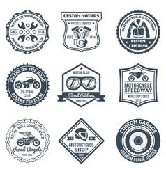 Motorcycle Labels Black vector image vector image