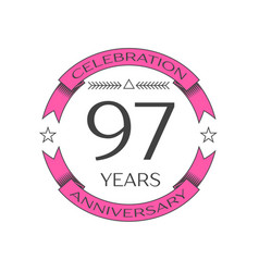 ninety seven years anniversary celebration logo vector image