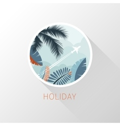 Plane icon Tourism and travel vector image