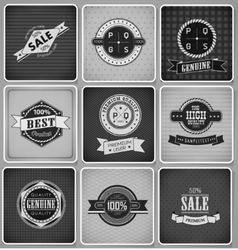 Premium Guarantee and sale Labels vector image
