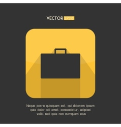Suitcase icon in modern flat design Yellow and vector image