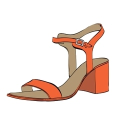 Summer womens high-heeled sandals vector image vector image