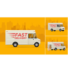 the delivery truck vector image vector image