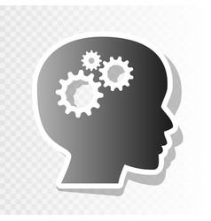 thinking head sign new year blackish icon vector image