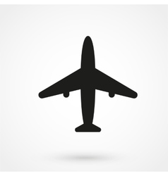 airplane icon black on white background vector image