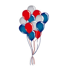 balloon independece day icon vector image vector image