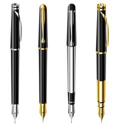 Fountain pen set vector image vector image
